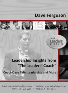 "Leadership Insights from ""The Leaders' Coach"""