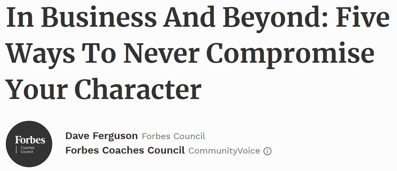Forbes Coaches Council - August 8, 2017