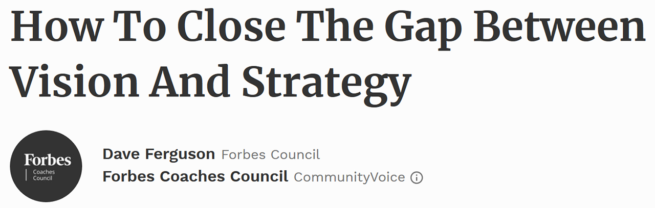 Forbes Coaches Council - April 23, 2017
