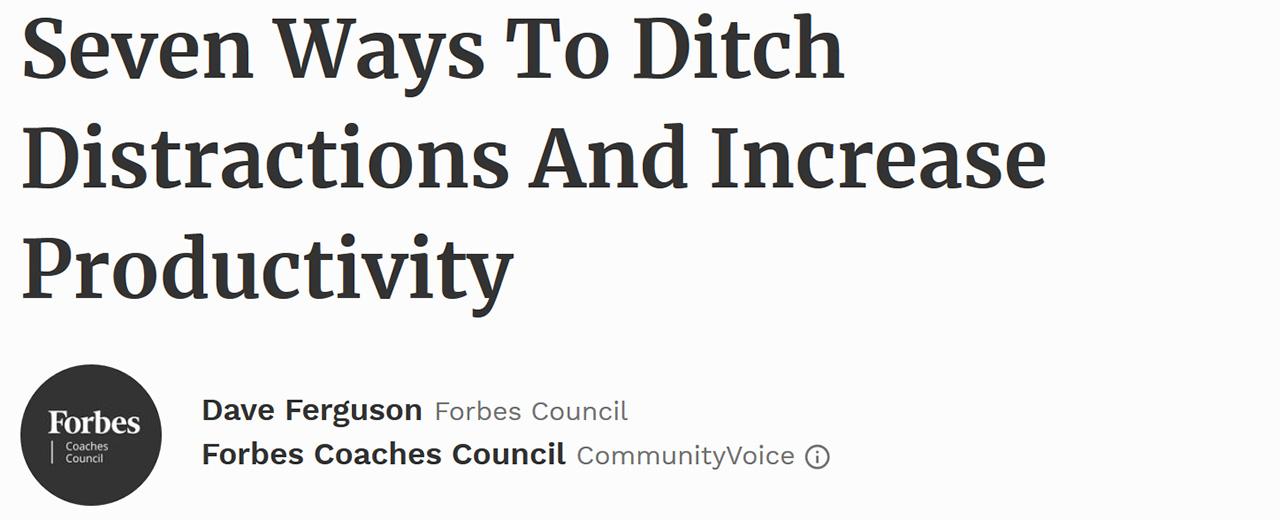 Forbes Coaches Council - September 20, 2017