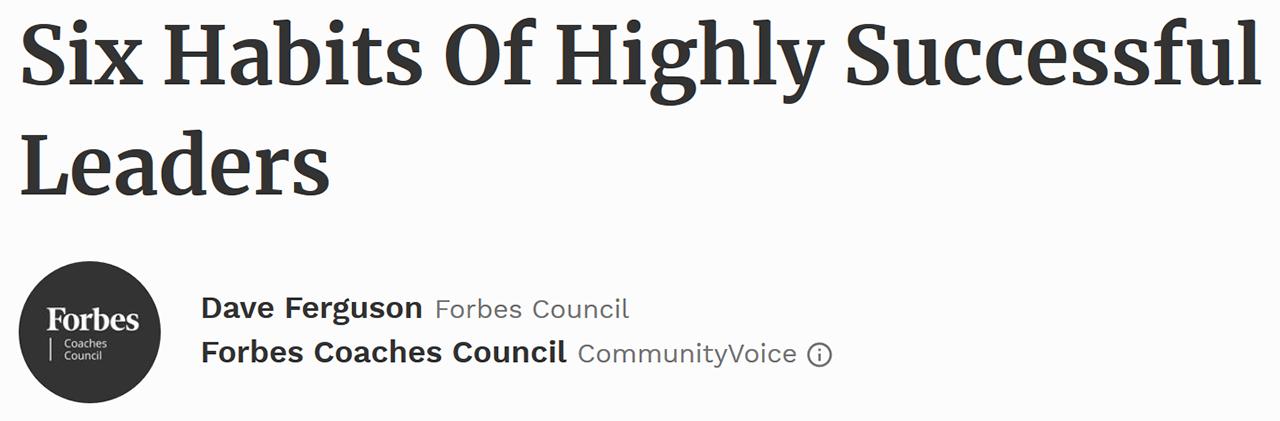Forbes Coaches Council - September 27, 2017