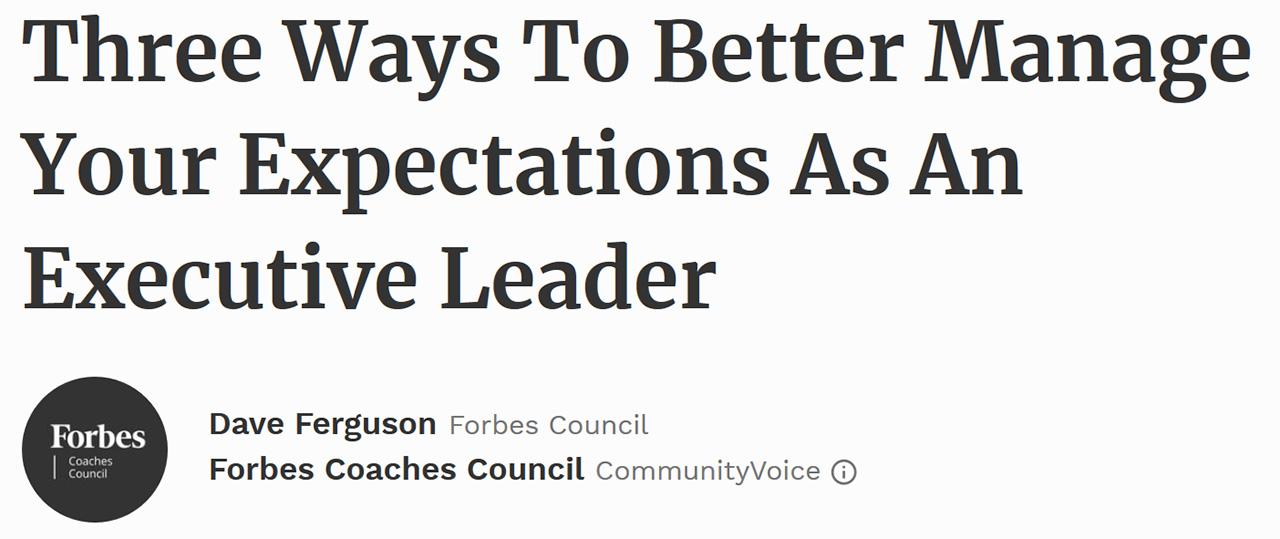 Forbes Coaches Council - September 12, 2017
